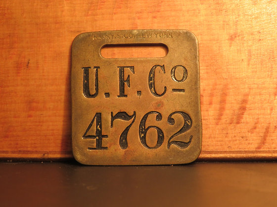 UFCO Brass Luggage Tag 4762