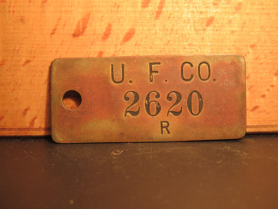 UFCO Brass Inventory Tag 2620