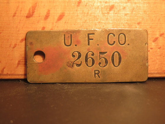 UFCO Brass Inventory Tag 2650
