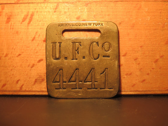 UFCO Brass Luggage Tag 4441