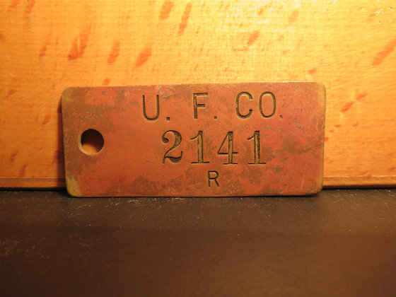 UFCO Brass Inventory Tag 2141