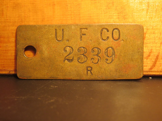 UFCO Brass Inventory Tag  2339