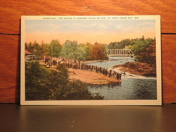 """""""Shooting"""" The Rapids At Keshena Falls on Wis. 47, Near Green Bay, Wisconsin"""