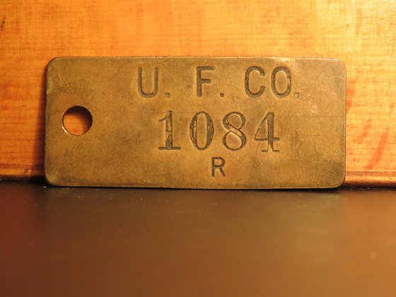 UFCO Brass Inventory Tag 1084