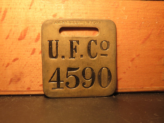 UFCO Brass Luggage Tag 4590