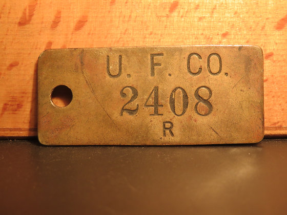 UFCO Brass Inventory Tag 2408