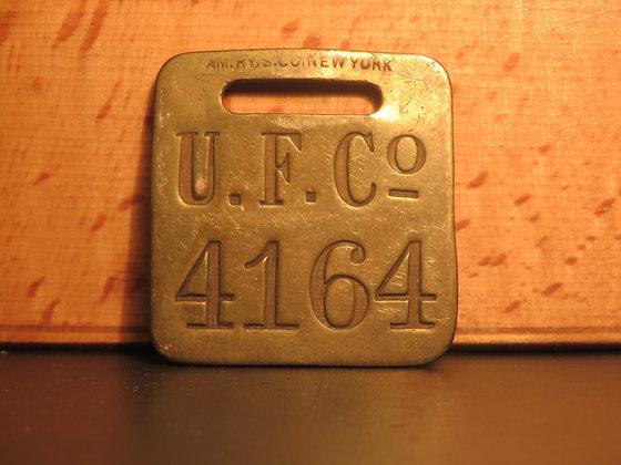 UFCO Brass Luggage Tag F4164