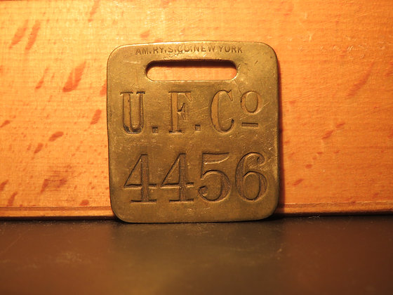 UFCO Brass Luggage Tag 4456