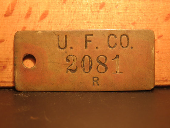 UFCO Brass Inventory Tag  2081