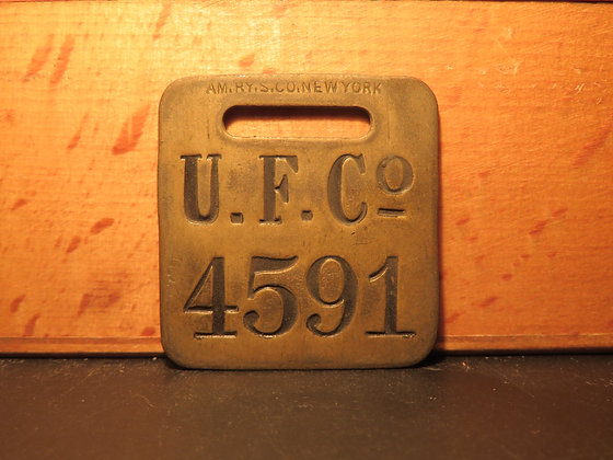 UFCO Brass Luggage Tag 4591