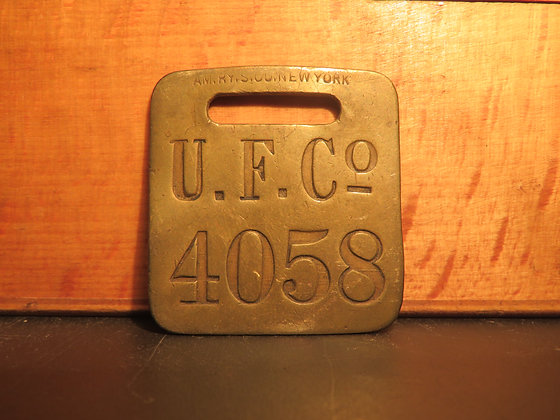 UFCO Brass Luggage Tag 4058