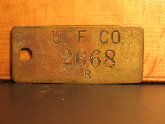 UFCO Brass Inventory Tag 2668