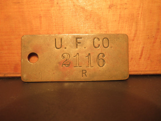 UFCO Brass Inventory Tag 2116