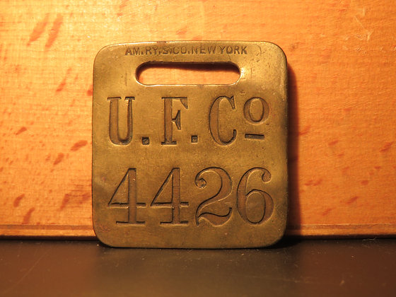 UFCO Brass Luggage Tag 4426