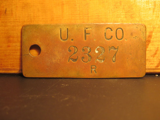 UFCO Brass Inventory Tag 2327