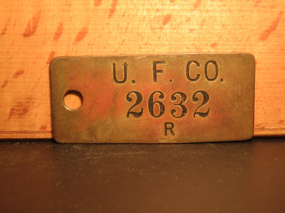UFCO Brass Inventory Tag 2632