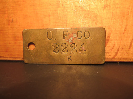 UFCO Brass Inventory Tag 2224