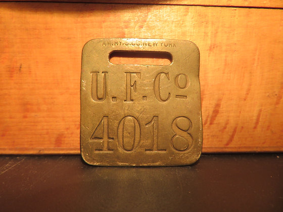 UFCO Brass Luggage Tag 4018