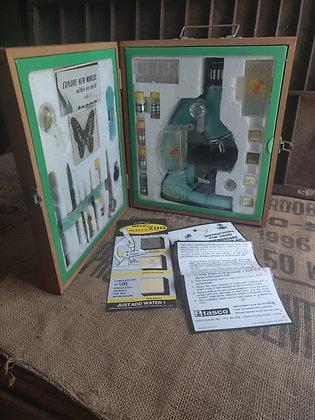 Tasco Microscope Kit in Wood Case