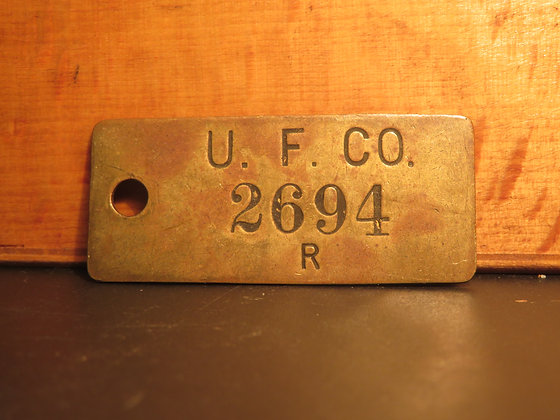 UFCO Brass Inventory Tag 2694