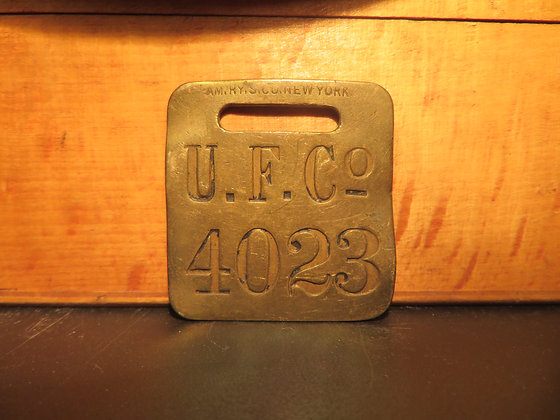 UFCO Brass Luggage Tag 4023