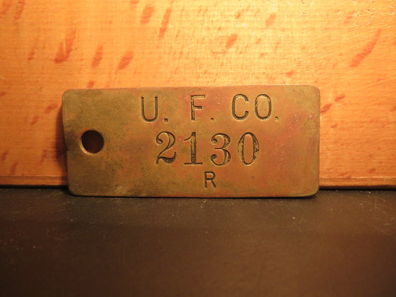 UFCO Brass Inventory Tag 2130