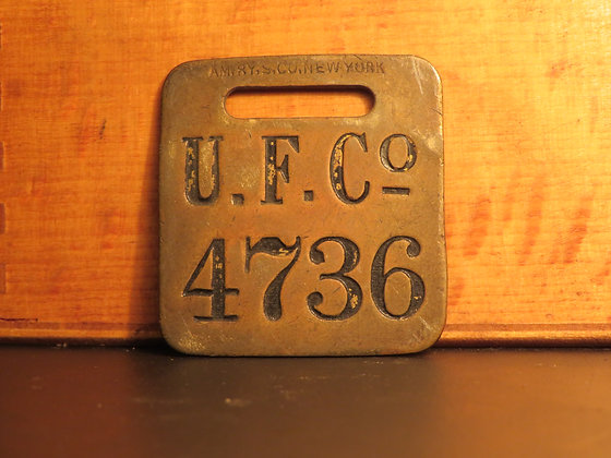 UFCO Brass Luggage Tag 4736