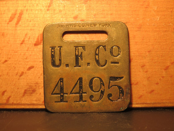 UFCO Brass Luggage Tag 4495