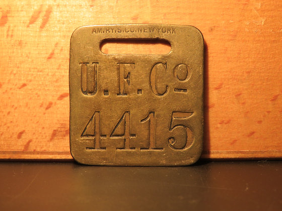 UFCO Brass Luggage Tag 4415