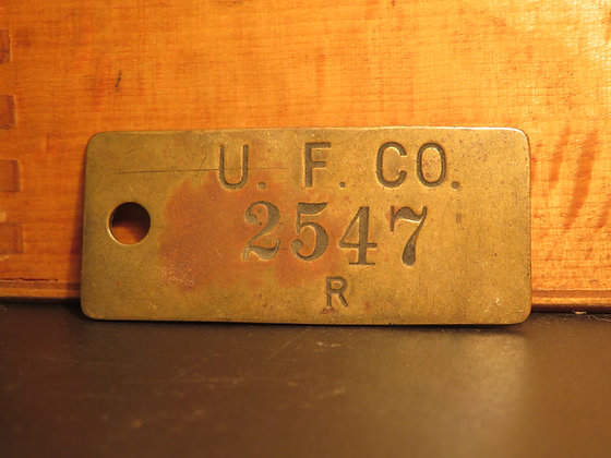 UFCO Brass Inventory Tag  2547