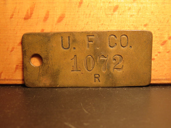 Brass Inventory Tag 1072