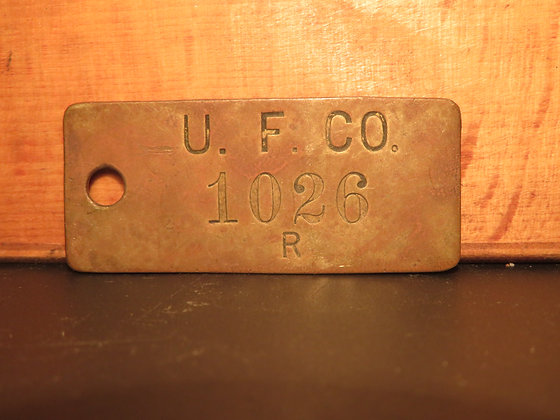 UFCO Brass Inventory Tag 1026