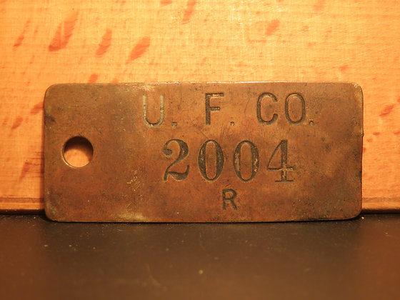 UFCO Brass Inventory Tag 2004