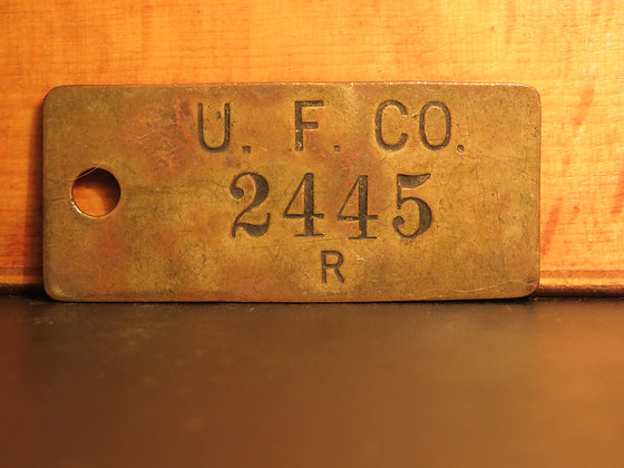 UFCO Brass Inventory Tag 2445