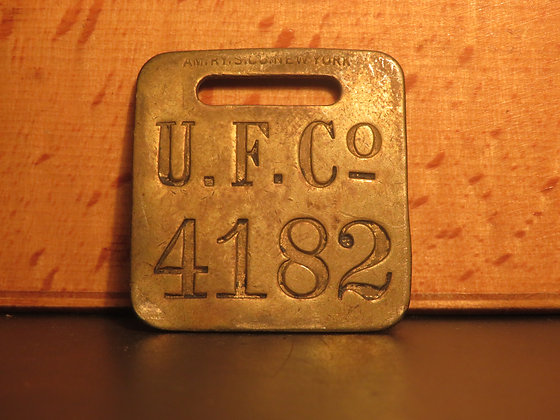 UFCO Brass Luggage Tag F4182