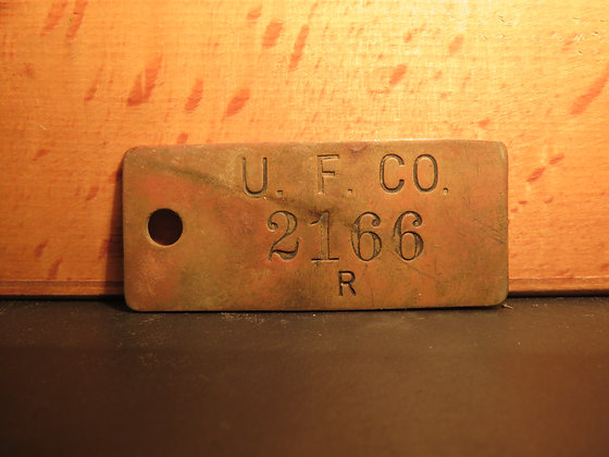 UFCO Brass Inventory Tag 2166