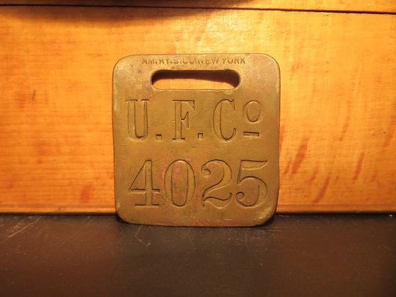 UFCO Brass Luggage Tag 4025