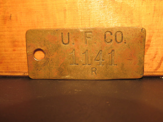 UFCO Brass Inventory Tag 1141