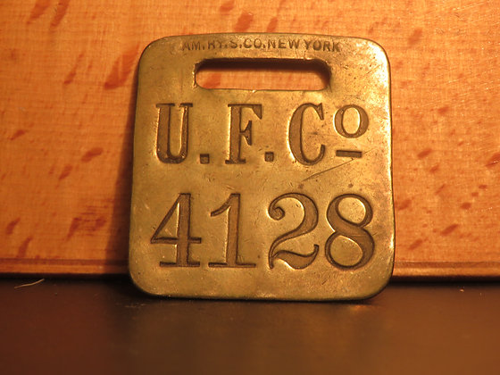 UFCO Brass Luggage Tag F4128