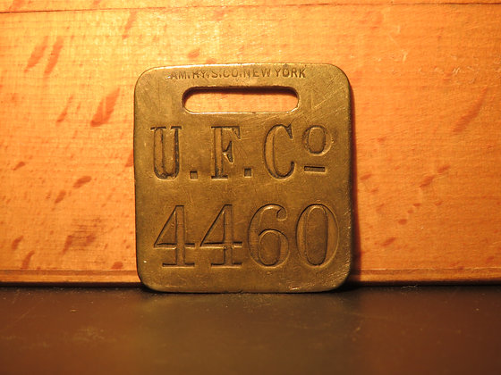 UFCO Brass Luggage Tag 4460
