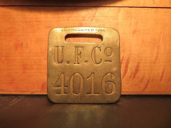 UFCO Brass Luggage Tag 4016