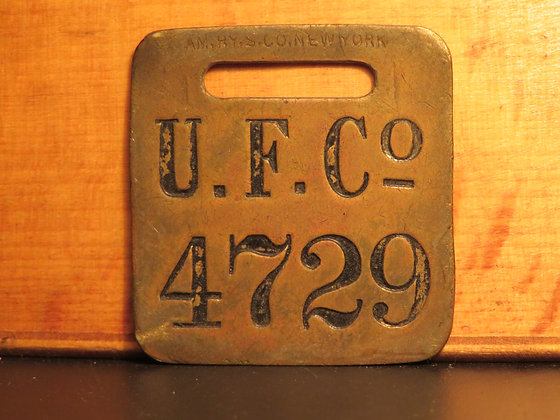 UFCO Brass Luggage Tag 4729
