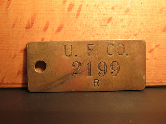 UFCO Brass Inventory Tag 2199