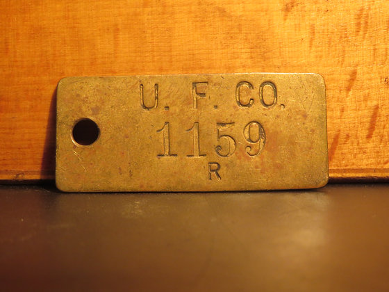 UFCO Brass Inventory Tag E1159