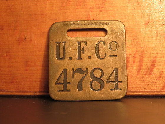 UFCO Brass Luggage Tag 4784