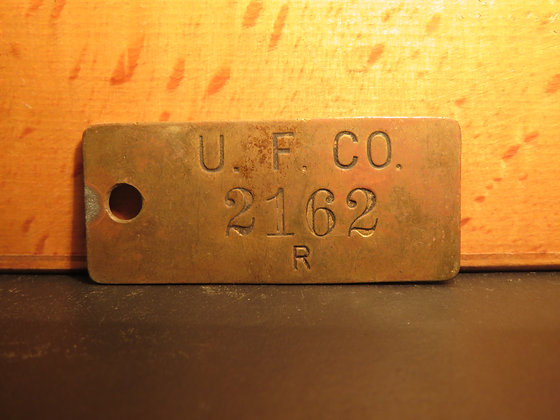 UFCO Brass Inventory Tag 2162
