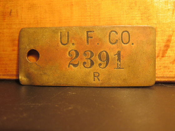 UFCO Brass Inventory Tag  2391
