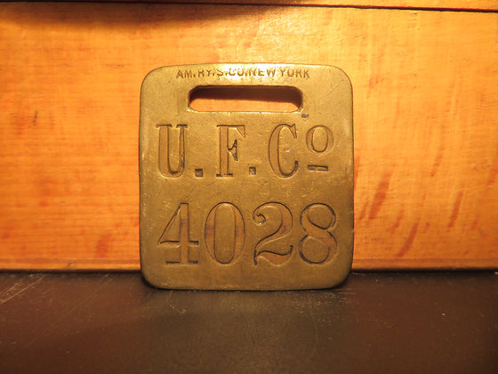 UFCO Brass Luggage Tag 4028
