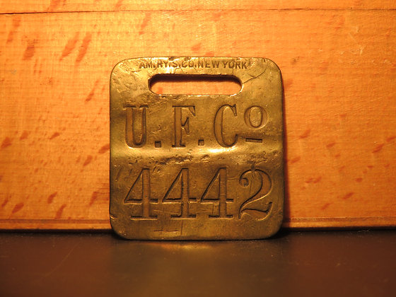 UFCO Brass Luggage Tag 4442