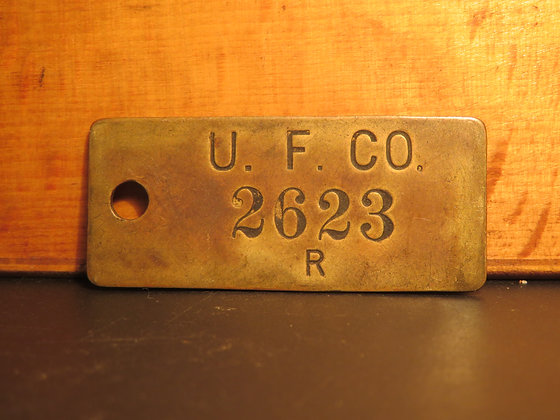 UFCO Brass Inventory Tag 2623